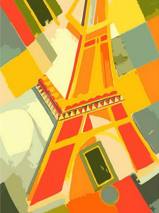 Купить Картина по номерам «Взгляд на Эйфелеву башню», Белоснежка, Россия, 707-AS