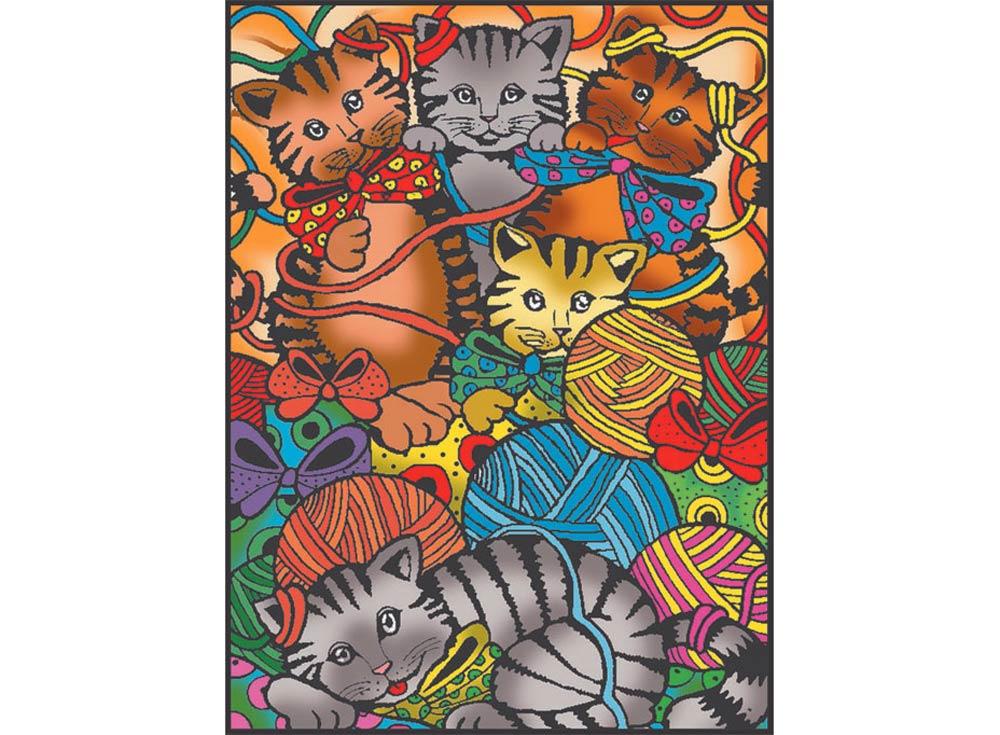 коробка раскраска котята 10 маркеров