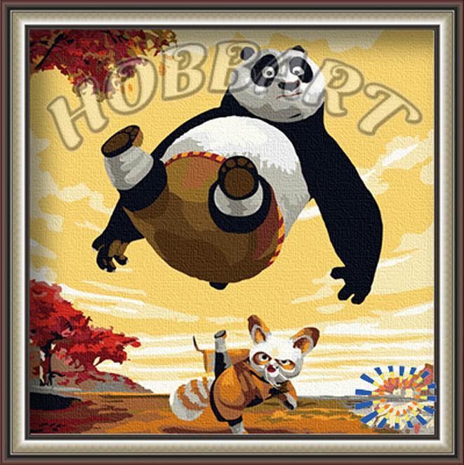 Купить Картина по номерам «Кунфу панда», Hobbart, Россия, HB3030014-Lite