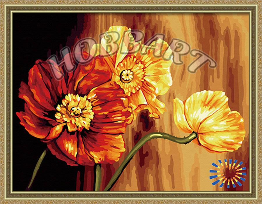 Купить Картина по номерам «Знойные цветы», Hobbart, Россия, HB3040135