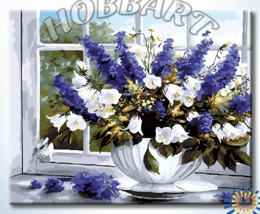 Купить Картина по номерам «Букет на окне», Hobbart, DZ4050017-Lite