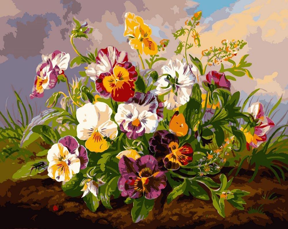 восхитительная картина с цветами наши дни домашних