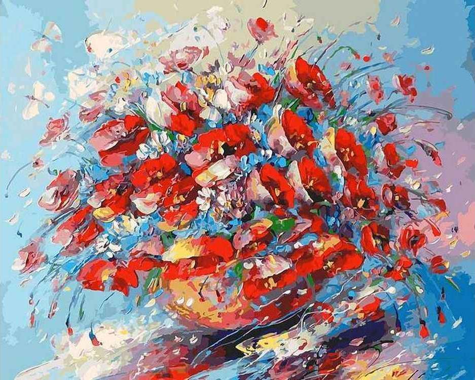 Купить Картина по номерам «Цветочная палитра лета», Белоснежка, Россия, 153-AB