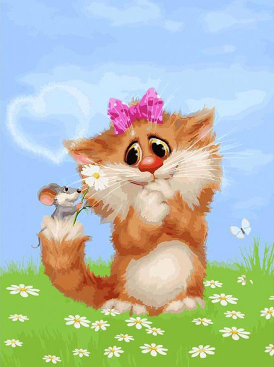 Картина по номерам «Рыжая кошечка» Алексея