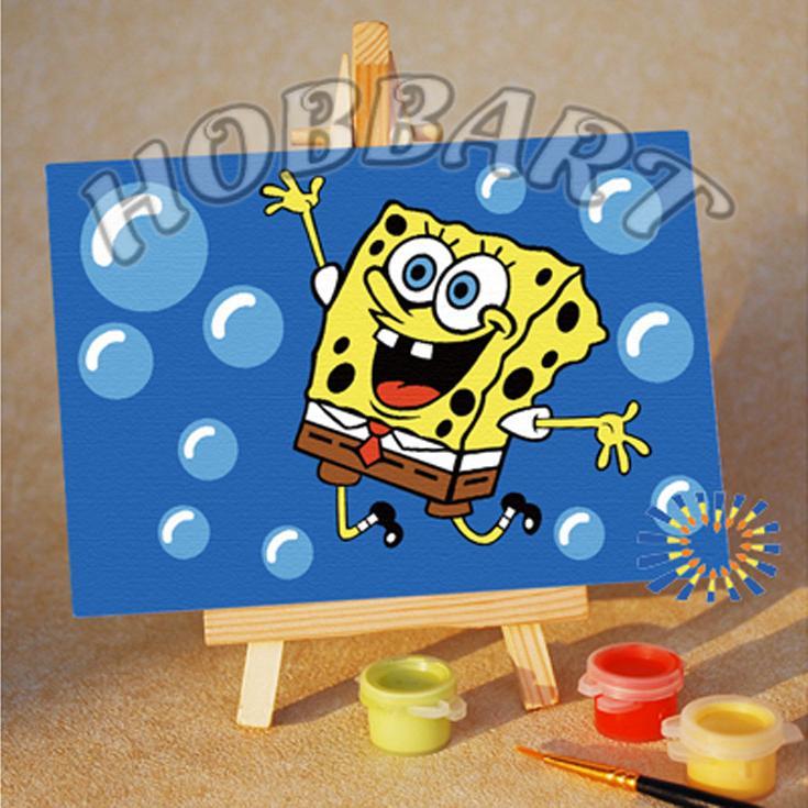 Картина по номерам «Spong Bob: пузыриии!», Hobbart, Россия, M1015019  - купить со скидкой