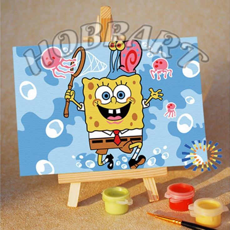 Купить Картина по номерам «Spong Bob: охота на удачу», Hobbart, Россия, M1015148