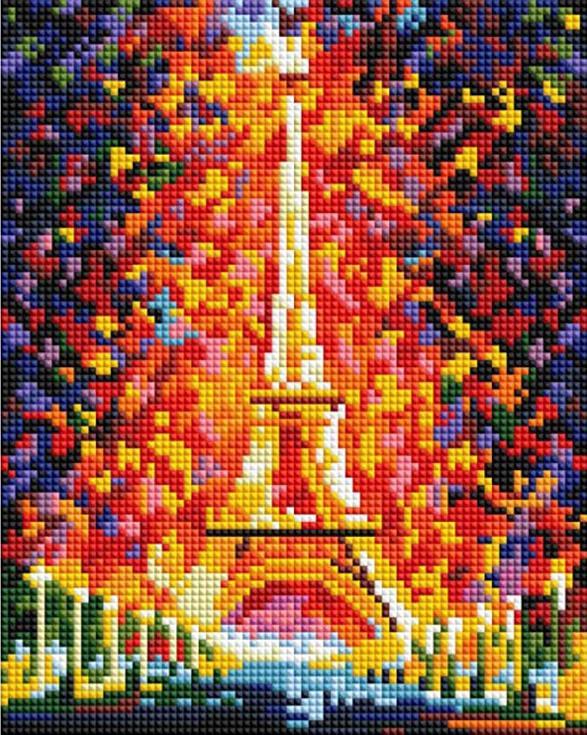 Купить Алмазная вышивка «Париж - огни Эйфелевой башни», Белоснежка, Россия, 20x25 см, 002-ST-PS