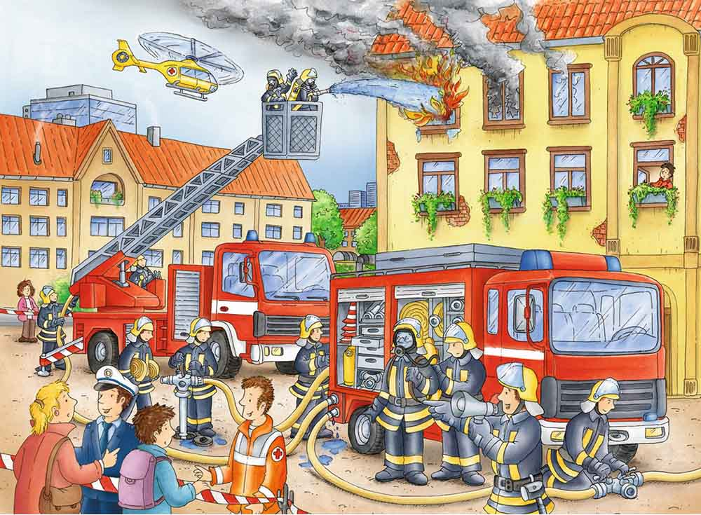 Картинки для детей про пожар в доме