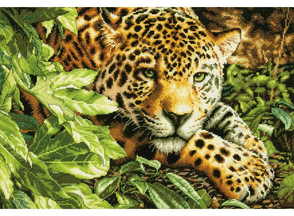 Купить Вышивка крестом, Набор для вышивания «Леопард», Dimensions, США, 40, 6x27, 9 см, 70-35300