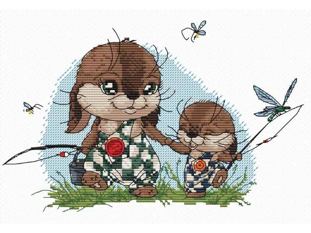 Купить Вышивка крестом, Набор для вышивания «На рыбалку», Белоснежка, Россия, 30x21 см, 137-14