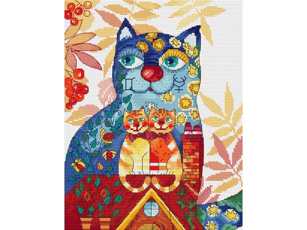 Купить Вышивка крестом, Набор для вышивания «Близнецы», Белоснежка, Россия, 28x35 см, 170-14