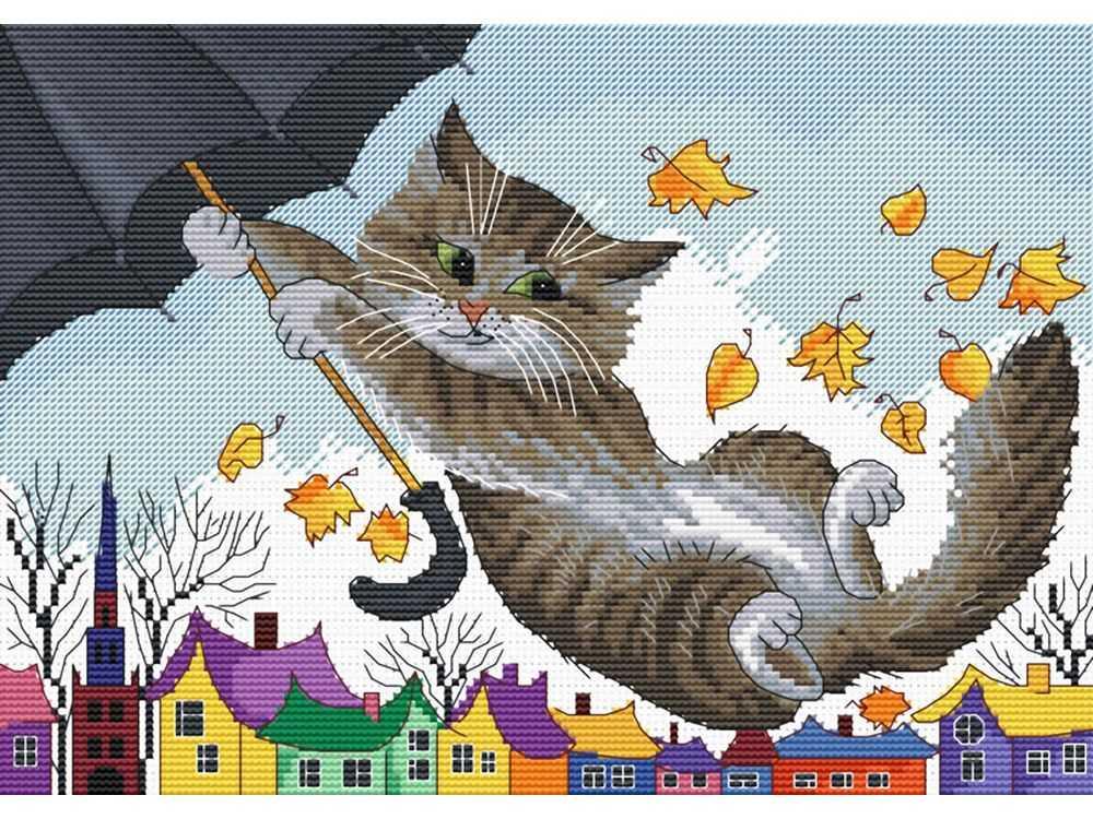 Купить Вышивка крестом, Набор для вышивания «Зонтик», Белоснежка, Россия, 35x35 см, 173-14