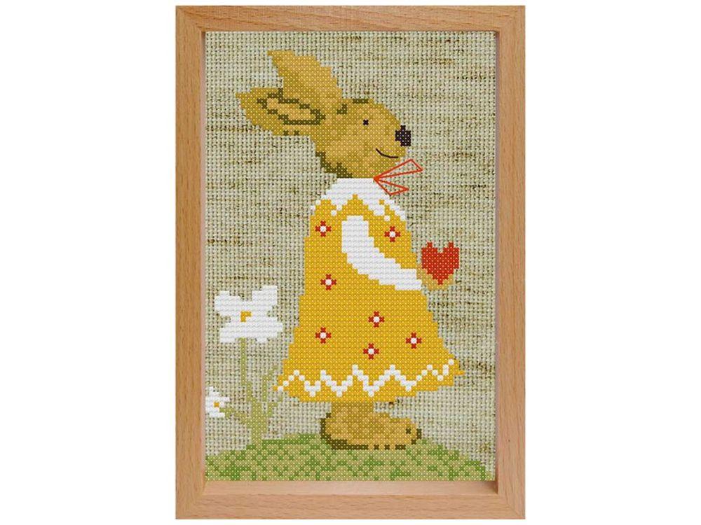 Купить Вышивка крестом, Набор для вышивания «Девочка Заинька», Белоснежка, Россия, 17x12 см, 206-EF