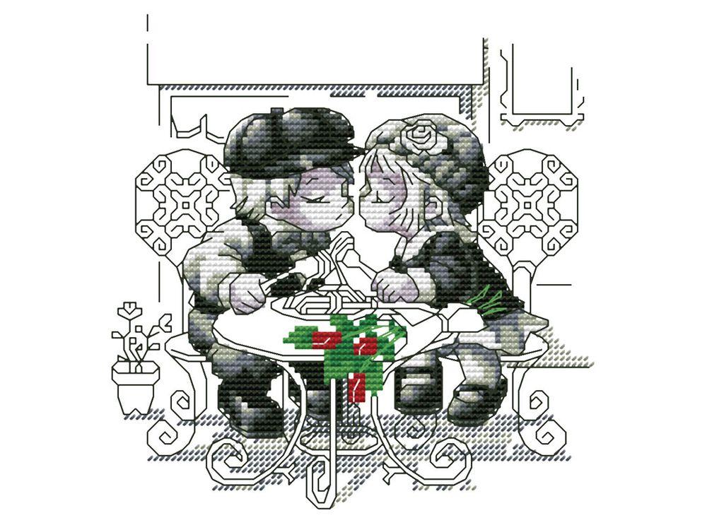 Купить Вышивка крестом, Набор для вышивания «Тет-а-тет», Белоснежка, Россия, 25x25 см, 359-14