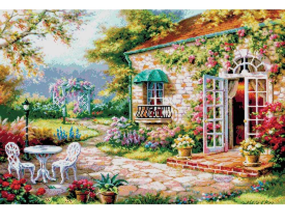 Купить Вышивка крестом, Набор для вышивания «Цветущий сад», Белоснежка, Россия, 59x42 см, 4029-14