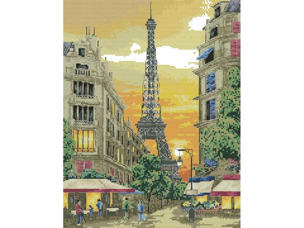 Купить Вышивка крестом, Набор для вышивания «Париж», Белоснежка, Россия, 34x42 см, 4055-14