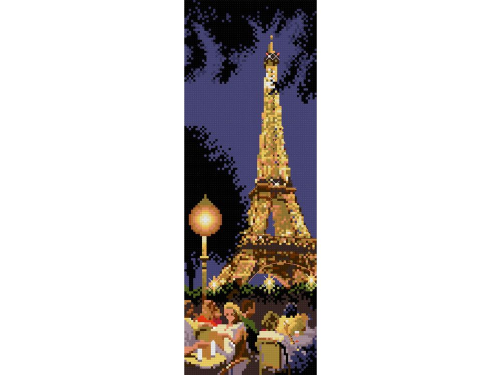 Купить Вышивка крестом, Набор для вышивания «Вечений Париж», Белоснежка, Россия, 21x41 см, 4062-14