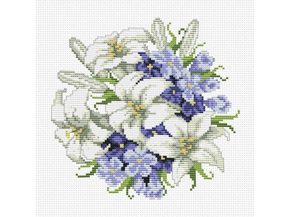 Купить Вышивка крестом, Набор для вышивания «Лилии», Белоснежка, Россия, 35x35 см, 6016-14