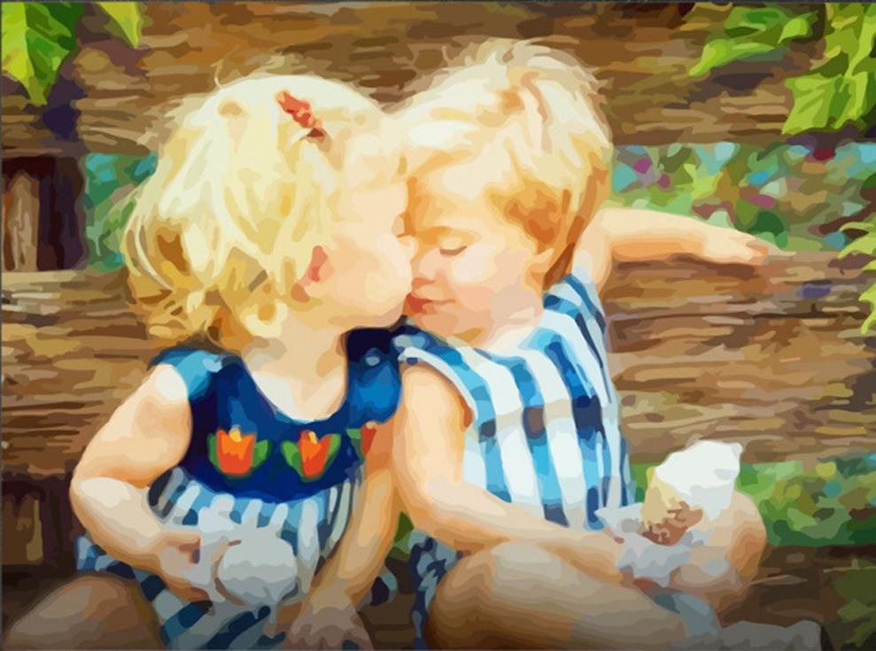 Рисованные картинки с детьми красивые