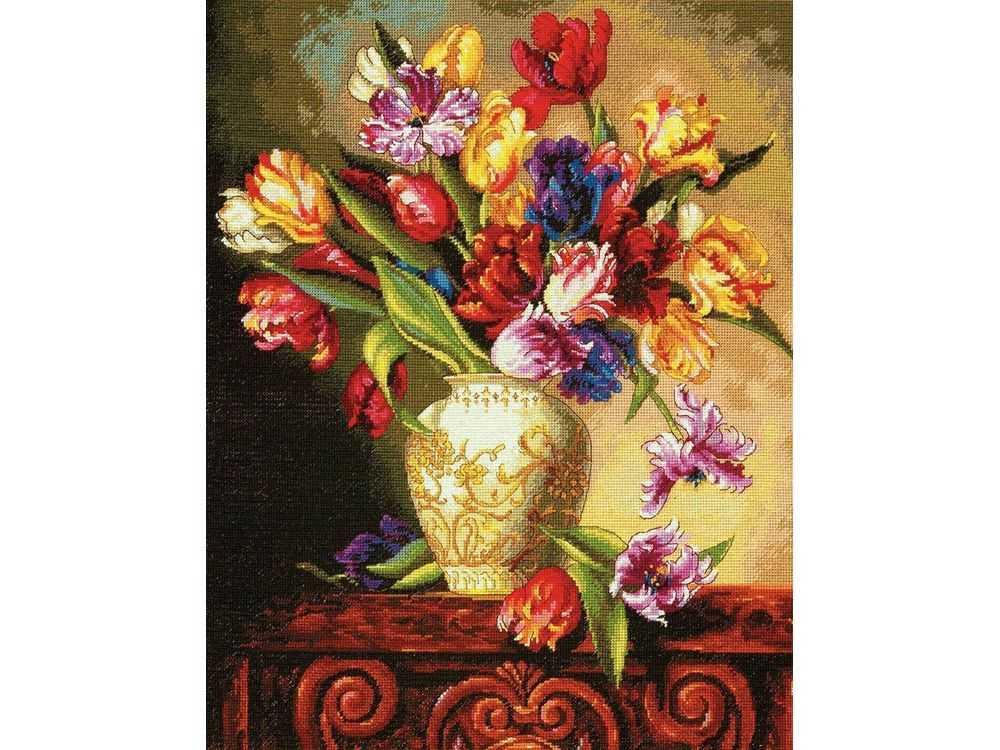 Купить Вышивка крестом, Набор для вышивания «Тюльпаны», Dimensions, США, 38x30 см, DMS-70-35305