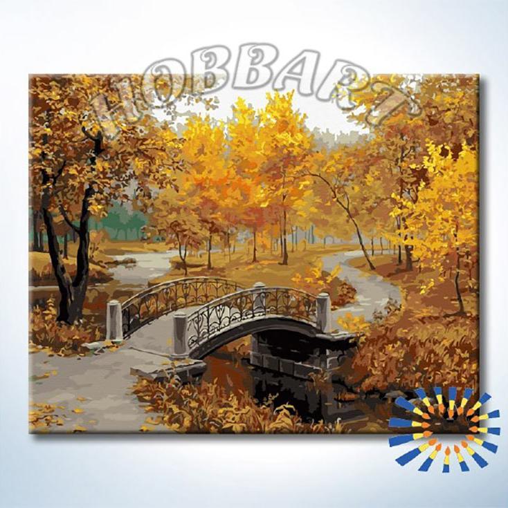 Купить Картина по номерам «В осеннем парке», Hobbart, Россия, DZ4050035-Lite