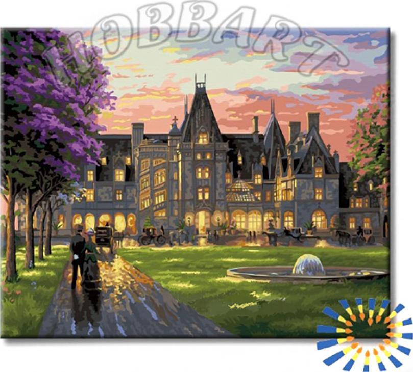 Купить Картина по номерам «Вечер в замке», Hobbart, Россия, DZ4050043-Lite
