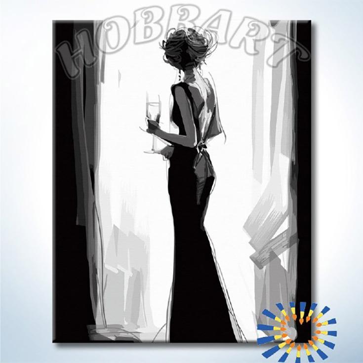Купить Картина по номерам «Наедине с мыслями», Hobbart, Россия, HB4050347-Lite