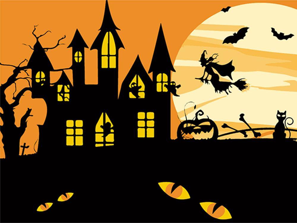 Картина по номерам «Хэллоуинская ведьма» (мини-раскраска ...