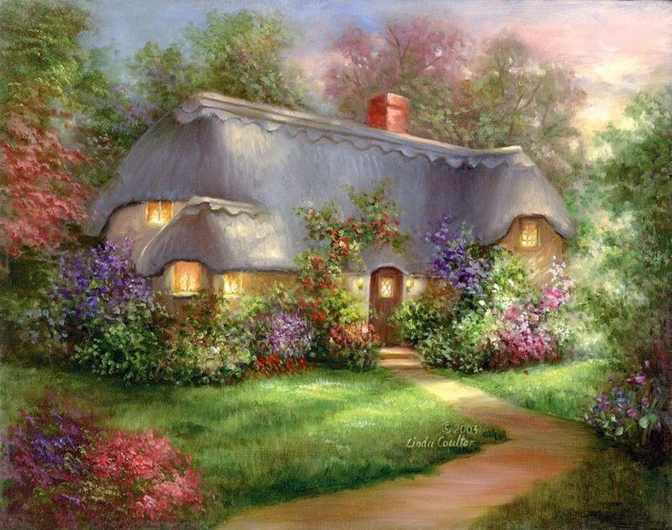 Купить Картина по номерам «Очаровательная хижина», Royal&Langnickel, POM-SET 16