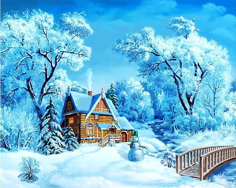 Поздравительных, картинки сказочный лес зимой