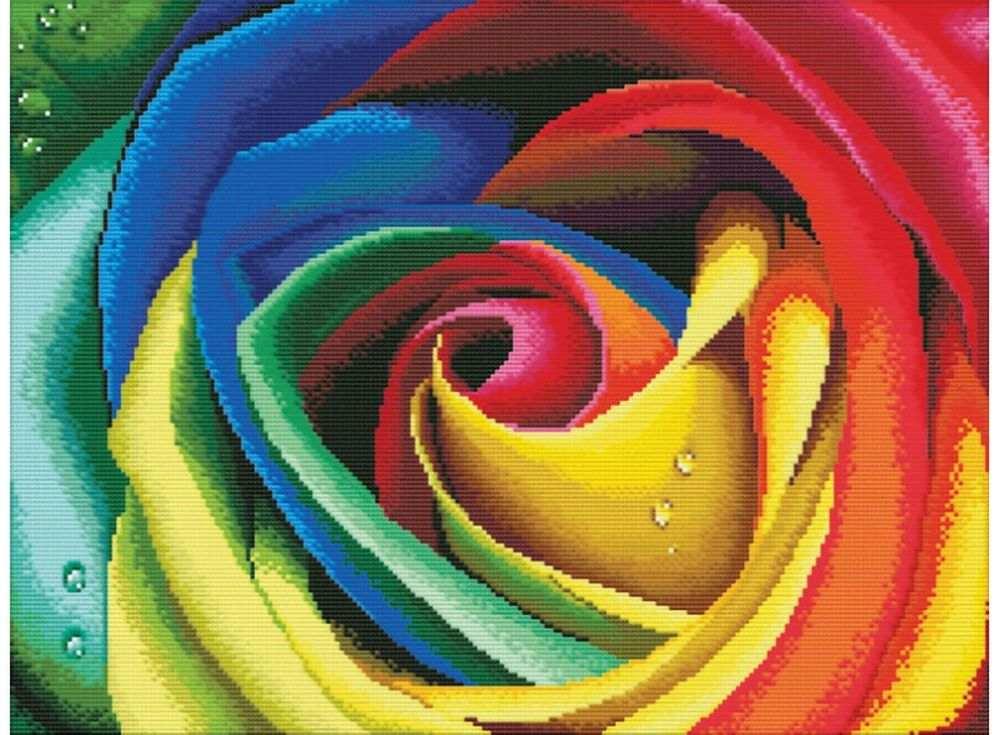 Купить Вышивка крестом, Набор для вышивания «Цветные лепестки», Белоснежка, 38x48 см, В-2645