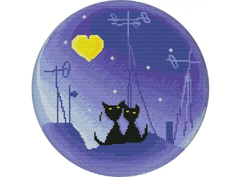 Купить Вышивка крестом, Набор для вышивания «Лунная ночь», Белоснежка, 33x33 см, В-3061