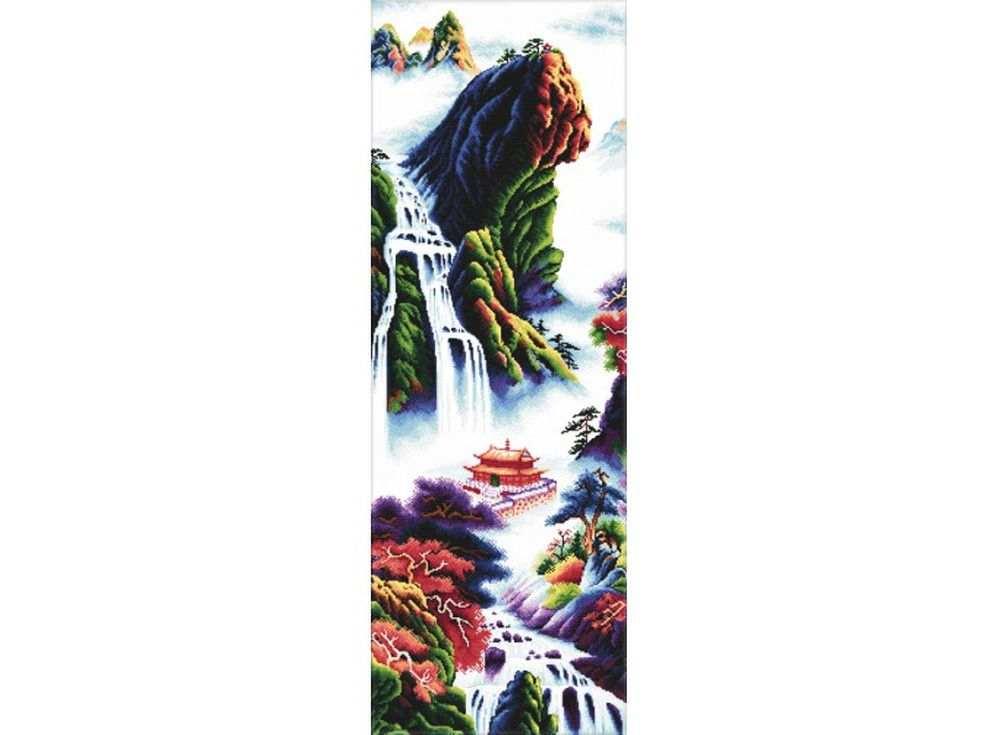 Купить Вышивка крестом, Набор для вышивания «Туманное утро», Белоснежка, 40x101 см, В-3232