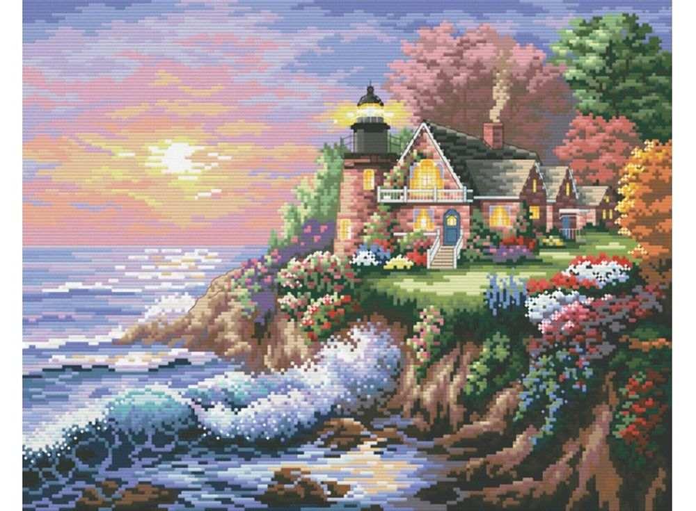 Купить Вышивка крестом, Набор для вышивания «Шумный берег», Белоснежка, 37x45 см, В-4032