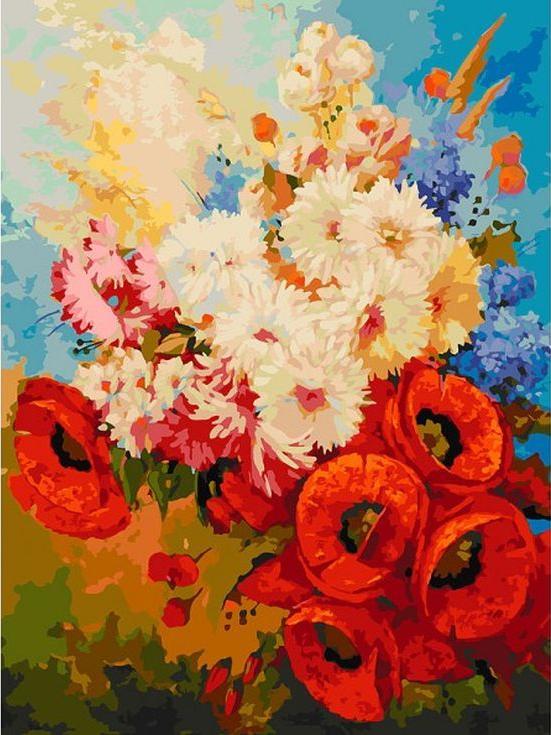 Купить Картина по номерам «Цветочная мозаика», Белоснежка, 122-AS