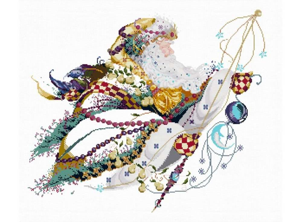 Купить Вышивка крестом, Набор для вышивания «Дед Мороз», Белоснежка, 56x65 см, 4210-14