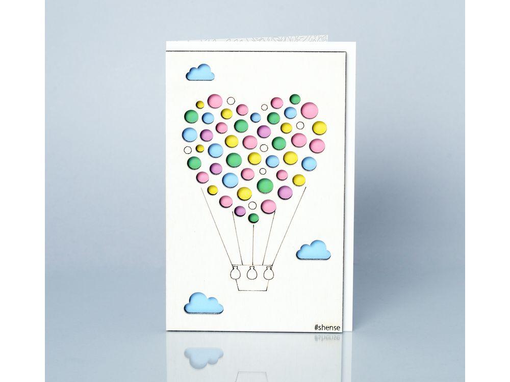 Объемная открытка воздушные шарами