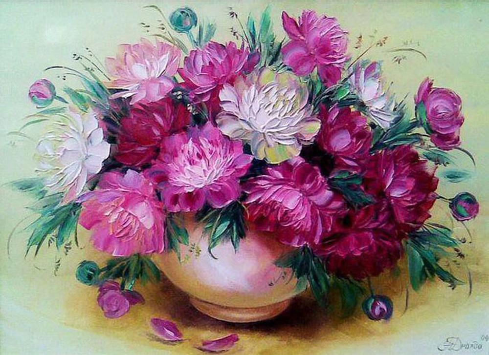 Купить Картина по номерам «Великолепные пионы», Paintboy (Premium), GX9456