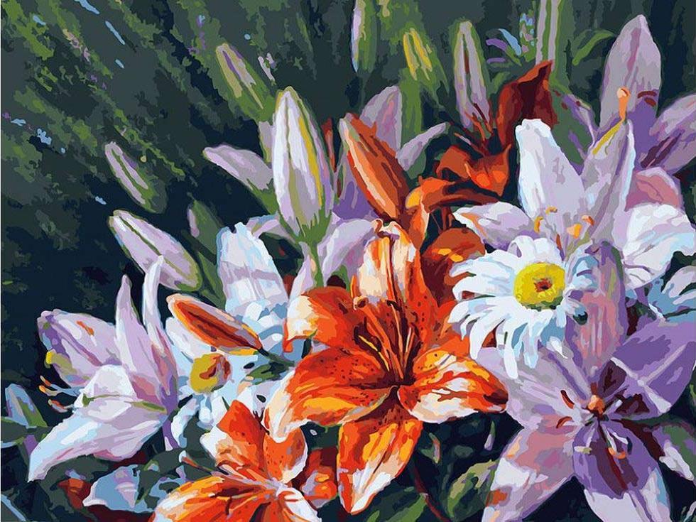 Купить Картина по номерам «Лилии из сада», Белоснежка, Россия, 138-AS