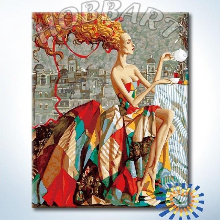 Купить Картина по номерам «Чаепитие», Hobbart, Россия, DZ4050047-Lite