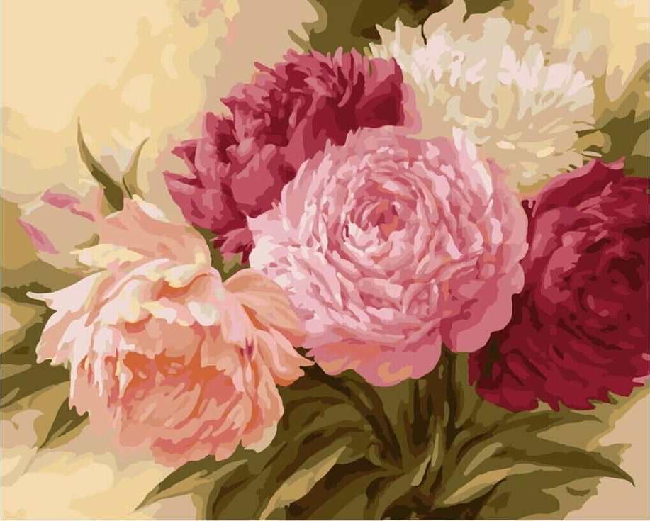 Купить Картина по номерам «Пионы», Paintboy (Premium), G429