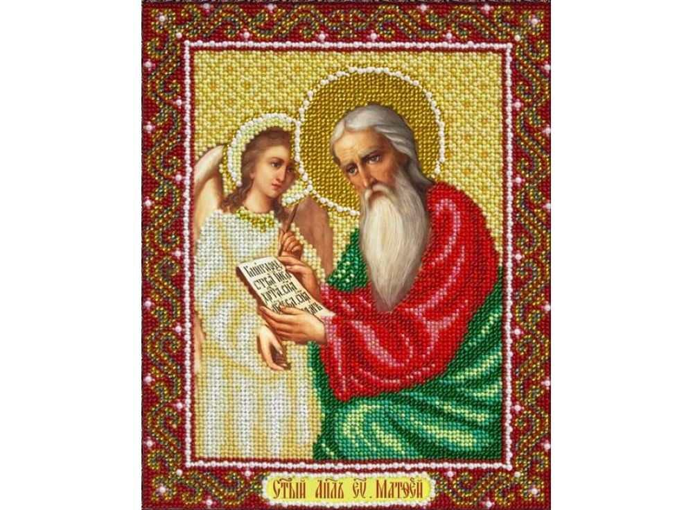 Купить Вышивка бисером, Набор вышивки бисером «Святой Апостол Евангелист Матфей», Паутинка, 20x25 см, Б-1051