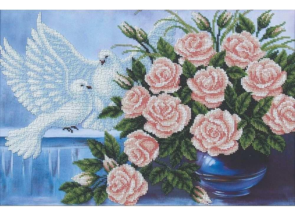 Купить Вышивка бисером, Набор вышивки бисером «На счастье», Магия канвы, 42x29 см, Б-118