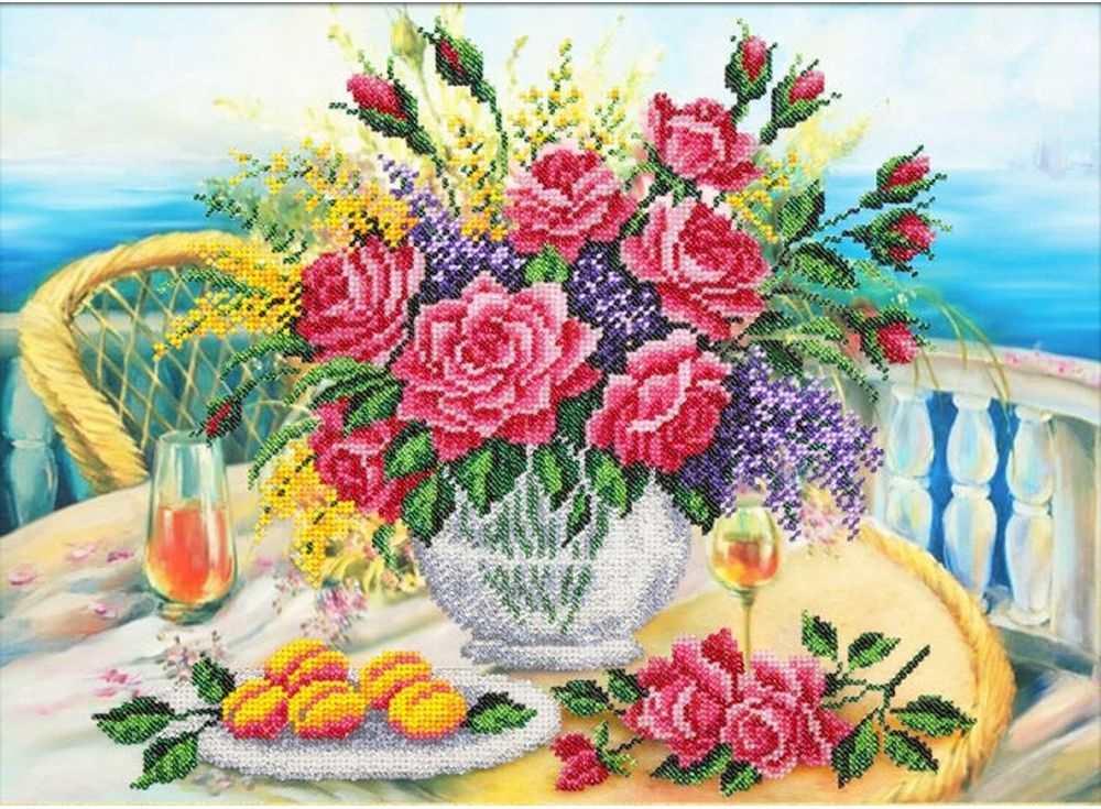 Купить Вышивка бисером, Набор вышивки бисером «Приморский натюрморт», Паутинка, 38x28 см, Б-1244