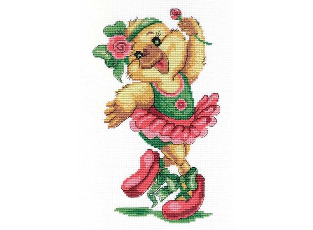 Купить Вышивка крестом, Набор для вышивания «Уточка - балерина», МП-студия, 28x18 см, НВ-207