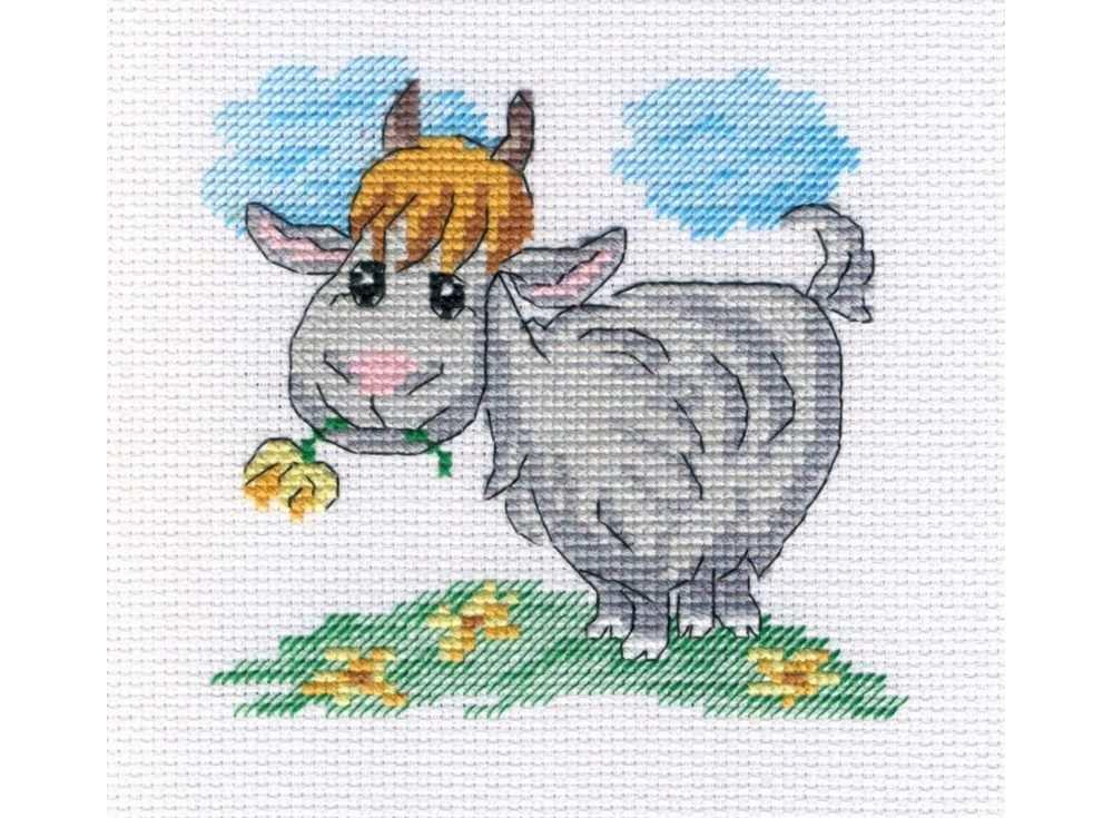 Купить Вышивка крестом, Набор для вышивания «Козочка», МП-студия, 14x14 см, НВ-341