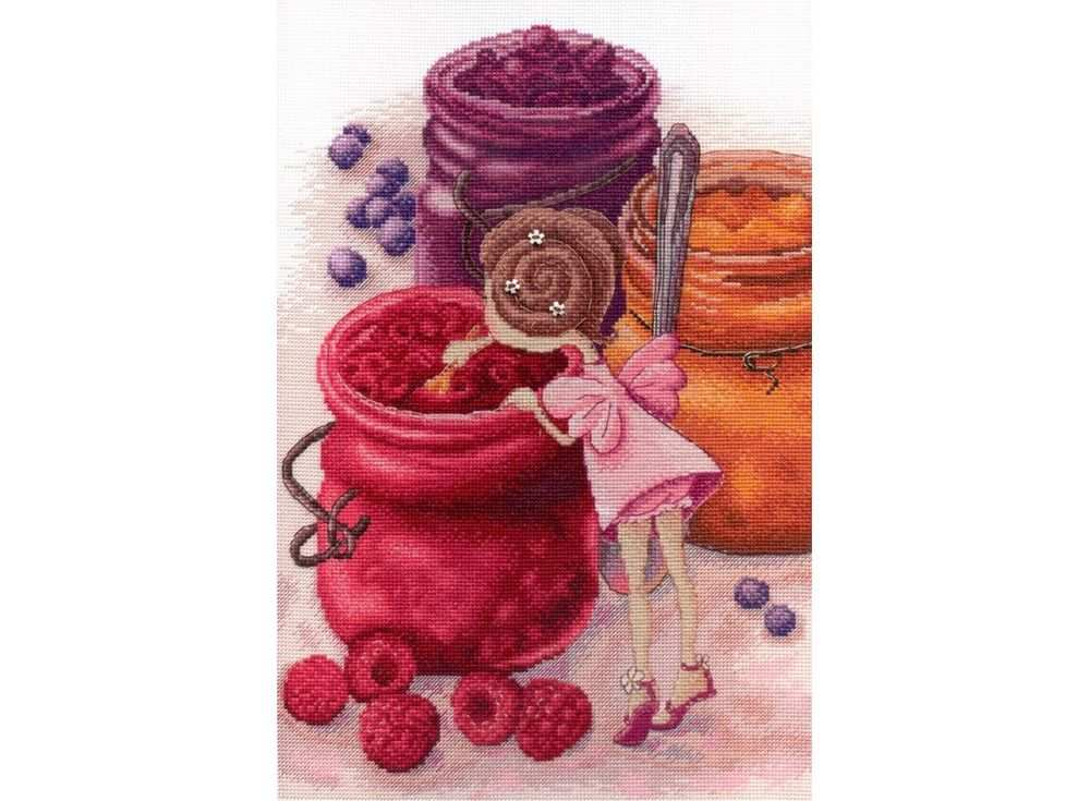 Купить Вышивка крестом, Набор для вышивания «Фея ягодного варенья», МП-студия, 30x20 см, НВ-610