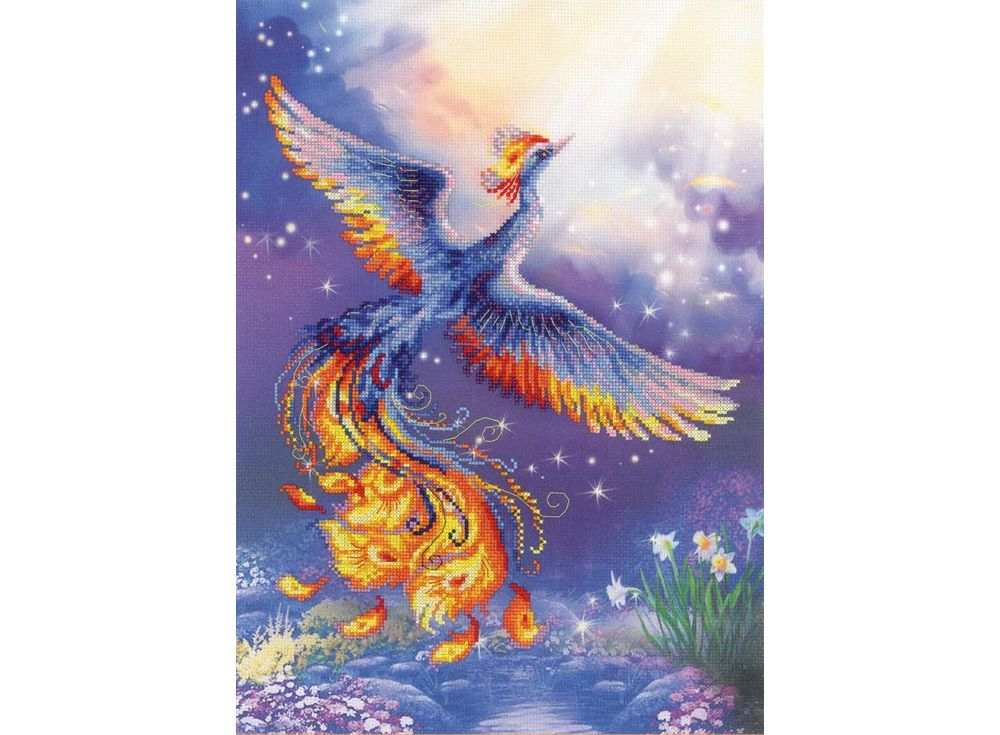Купить Вышивка крестом, Набор для вышивания «Птица счастья», Риолис (Сотвори Сама), 30x40 см, 0034 РТ