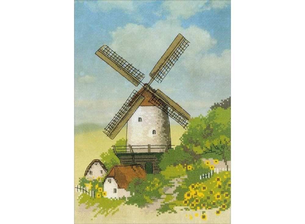 Купить Вышивка крестом, Набор для вышивания «Мельница», Риолис (Сотвори Сама), 21x30 см, 0045 РТ