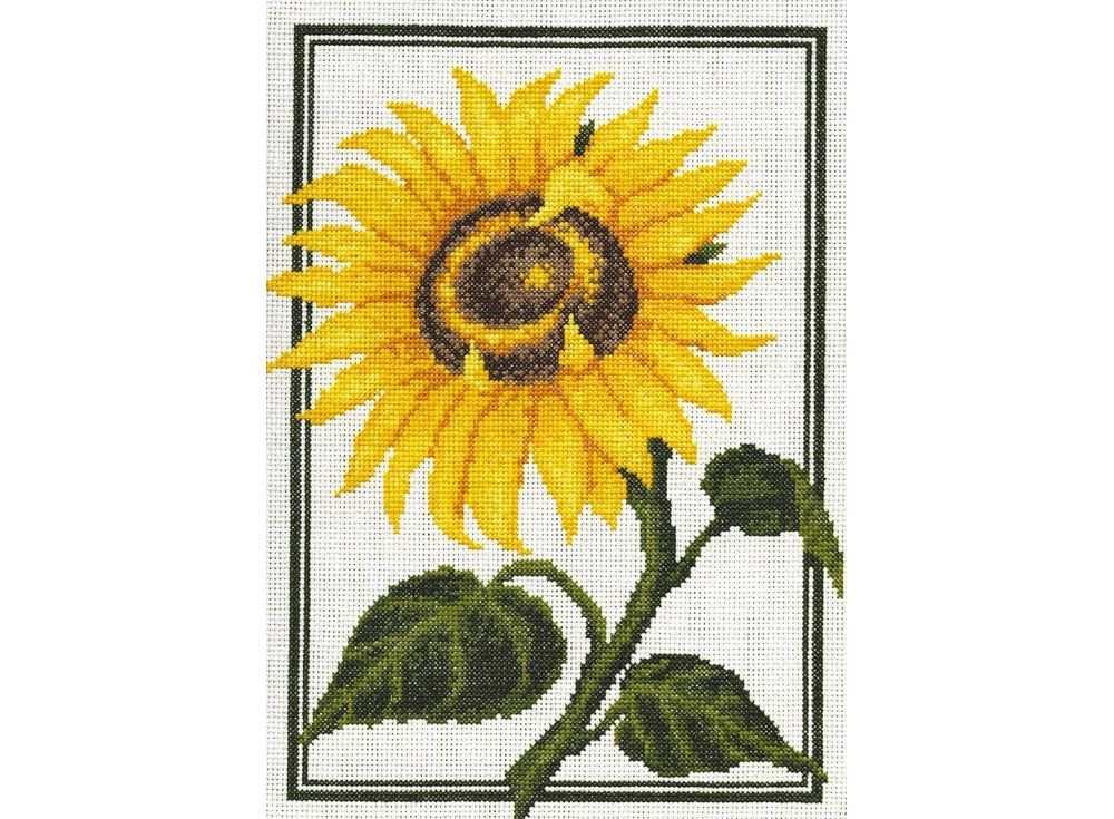 Купить Вышивка крестом, Набор для вышивания «Подсолнух», Палитра, 23x30 см, 01.001
